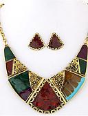 baratos Cachecol Feminino-Mulheres Geométrica Conjunto de jóias - Importante, Vintage, Europeu Incluir Colar / Brincos Arco-Íris Para Festa Diário Casual / Colares