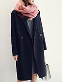 preiswerte Damenmäntel und Trenchcoats-Damen-Solide Grundlegend Arbeit Mantel