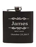 olcso Esküvői ajándékok-Személyre szabott Rozsdamentes acél Bárkellékek és üvegek Flaska Menyasszony Vőlegény Koszorúslány Násznagy Pár Szülők Esküvő Születésnap