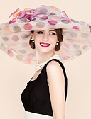 cheap Bikinis-Organza Kentucky Derby Hat / Fascinators / Hats with Flower 1pc Wedding / Special Occasion / Casual Headpiece