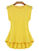 cheap Women's Blouses-Women's Street chic Blouse - Solid Colored Racerback / Summer