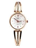halpa Kvartsikellot-Naisten Rannerengaskello Simuloitu Timantti Kello Diamond Watch Quartz Hopea / Kulta  Arkikello jäljitelmä Diamond Analoginen Muoti Tyylikäs - Kulta Hopea