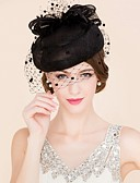 cheap Corsets-Tulle Flax Fascinators Hats Birdcage Veils 1 Wedding Special Occasion Casual Headpiece