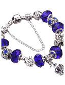 cheap Women's Blouses-Women's Crystal Beaded / Beads Charm Bracelet / Bracelet Bangles / Strand Bracelet - Rhinestone, Silver Plated European, Fashion Bracelet Blue / Pink / Light Green For Party / Gift / Daily