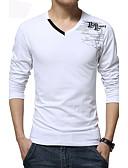 お買い得  メンズフーディー&スウェットシャツ-男性用 スポーツ - プリント プラスサイズ Tシャツ ボヘミアン コットン ホワイト XXXL / 長袖