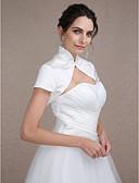 Χαμηλού Κόστους Γαμήλιες Εσάρπες-Κοντομάνικο Σατέν Γάμου / Πάρτι / Βράδυ Αναδιπλώνει Γάμου Με Μπολερό