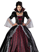 cheap Historical & Vintage Costumes-Vampire Cosplay Costume Party Costume Women's Christmas Halloween Carnival Festival / Holiday Outfits Red / black Vintage