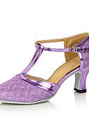Χαμηλού Κόστους Αξεσουάρ κεφαλής για πάρτι-Γυναικεία Μοντέρνα παπούτσια Λαμπυρίζον Γκλίτερ Τακούνια Αγκράφα / Με Τρύπες Προσαρμοσμένο τακούνι Εξατομικευμένο Παπούτσια Χορού Καφέ / Χρυσαφί / Μπλε Απαλό / Εσωτερικό / Επίδοση