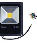 voordelige Hardloopshirts, -broeken en -shorts-1pc 50 W LED-schijnwerperlampen Etäohjattu / Dimbaar / Waterbestendig RGB 85-265 V Buitenverlichting / Binnenplaats / Tuin
