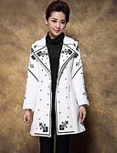 preiswerte Damenmäntel und Trenchcoats-Damen-Solide Chinoiserie Arbeit Übergrössen Mantel Bestickt