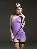 billige Nattøy til damer-Dame Store størrelser Super Sexy Teddy Ultrasexy Undertøy med strømpebånd Nattøy - Jacquardvevnad, Netting