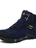 זול שעוני יוקרה-בגדי ריקוד גברים בד סתיו / חורף נוחות מגפיים שחור / כחול כהה