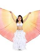 hesapli Dans Aksesuarları-Dans Aksesuarları Bereketin Kanatları Performans Polyester Fırfırlı Peri Masalları Kanatlar / Göbek Dansı