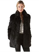 رخيصةأون فساتين نسائية-قياس كبير معطف فرو نسائي - عمل عتيق لون سادة