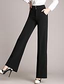 זול חליפות שני חלקים לנשים-בגדי ריקוד נשים מידות גדולות רגל רחבה / Business מכנסיים - גיזרה גבוהה אחיד / עבודה