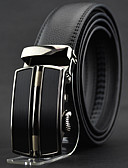 abordables Corbatas y Pajaritas para Hombre-Hombre Piel / Legierung Cinturón de Cintura - Trabajo / Casual Un Color