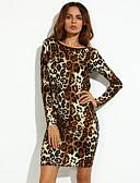 preiswerte Damen Kleider-Damen Bodycon Kleid - Rückenfrei, Tierfell-Druck