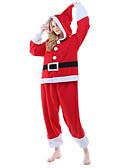 olcso Női sálak-Felnőttek Mikulás Onesie pizsama Polár gyapjú Piros Cosplay mert Férfi és női Allati Hálóruházat Rajzfilm Fesztivál / ünnepek Jelmez