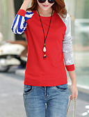 お買い得  レディーストップス-女性用 ストリートファッション プルオーバー - カラーブロック, クラシック