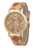 cheap Quartz Watches-Women's Wrist Watch Casual Watch / / Leather Band Casual / Fashion / Wood Multi-Colored