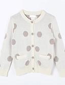 voordelige Meisjeskleding-Dagelijks Polka dot Katoen Herfst Trui & Vest Crème