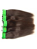 abordables Relojes de Moda-Cabello Hindú Recto Tejidos Humanos Cabello Cabello humano teje Negro Natural Extensiones de cabello humano / Corte Recto