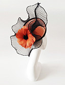cheap Wedding Veils-Flax Fascinators with 1 Wedding / Special Occasion Headpiece