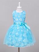 levne Dívčí šaty-Dívka je Polyester Jdeme ven Léto Šaty, Bez rukávů Modrá Růžová