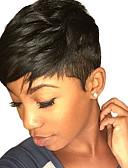 voordelige Jurken-Human Hair Capless Pruiken Echt haar Natuurlijk golvend Zonder kap Pruik