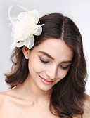 cheap Wedding Veils-Tulle / Feather / Net Fascinators / Headwear with Floral 1pc Wedding / Special Occasion Headpiece