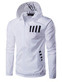 cheap Men's Jackets & Coats-Men's Active Jacket - Letter Hooded / Long Sleeve