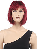 cheap Socks & Hosiery-Synthetic Wig Women's Straight Red Bob / With Bangs Synthetic Hair Red Wig Short Capless Black / Burgundy
