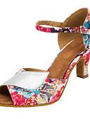 abordables Panties-Mujer Zapatos de Baile Latino / Zapatos de Salsa Brillantina / Satén Sandalia / Tacones Alto Purpurina / Hebilla / Flor Tacón Personalizado Personalizables Zapatos de baile Rosa / Interior