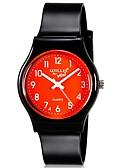 preiswerte Modische Uhren-Armbanduhr Cool / Mehrfarbig Plastic Band Süßigkeit / Freizeit / Modisch Schwarz