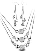 cheap Fashion Belts-Women's Jewelry Set - Sterling Silver Ball Basic, Simple Style, Fashion Include Drop Earrings / Pendant Necklace Silver For Wedding / Party / Daily