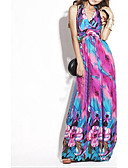baratos Vestidos de Mulher-Mulheres Boho Solto Vestido Floral