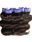 preiswerte Damen Schals-Peruanisches Haar Große Wellen Unbehandeltes Haar Menschenhaar spinnt Menschliches Haar Webarten Haarverlängerungen