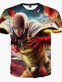 baratos Camisetas & Regatas Masculinas-Homens Camiseta - Esportes Estampado