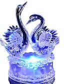 billige Rustfritt stål-fargerik romantisk svane ledet natt lys nydelig ledet svane natt lampe ideell for bryllupsfesten gave til venn barn