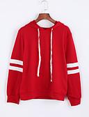 preiswerte Damen Kapuzenpullover & Sweatshirts-Damen Kapuzenshirt Gestreift Baumwolle / Herbst