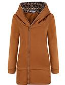 お買い得  レディースフーディー&スウェットシャツ-女性用 コットン パーカジャケット - ソリッド