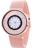 זול שעוני צמיד-בגדי ריקוד נשים קווארץ שעון יד מגניב / שעונים יום יומיים סגסוגת להקה יום יומי / אופנתי כסף / זהב / זהב ורד