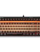 abordables Ropa Interior y Calcetines de Hombre-Rapoo Con Cable luz de fondo monocromático Interruptores Negro 92 Teclado mecánico Retroiluminado Programable