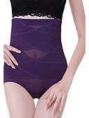 cheap Panties-Women's Plus Size Shaping Panties - Mesh, Solid Colored High Waist