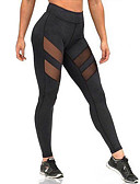 voordelige Damesleggings-Dames Sportief Legging - Effen, Netstof Medium Taille