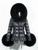cheap Women's Down & Parkas-Women's Going out Street chic Faux Fur / Cotton Padded - Solid Colored Hooded