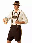 preiswerte Tanzkleidung für Balltänze-Oktoberfest Bayerisch Cosplay Kostüme Party Kostüme Herrn Halloween Oktoberfest Fest / Feiertage Austattungen Braun Druck
