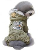 preiswerte Modische Uhren-Hund Mäntel Kapuzenshirts Hundekleidung Polizei / Militär Jägergrün Khaki Baumwolle Kostüm Für Haustiere Herrn Damen Cosplay Winddicht