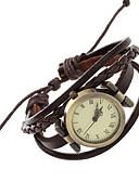 abordables Relojes Brazalete-Mujer Reloj Pulsera / Reloj de Pulsera Punk PU Banda Vintage / Casual / Bohemio Marrón / Un año