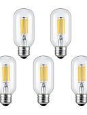 お買い得  ファッションウォッチ-5個 6W 2300/6000lm E26 / E27 フィラメントタイプLED電球 6 LEDビーズ COB 温白色 クールホワイト 85-265V